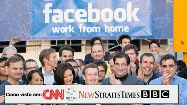 """Facebook teria lançado o programa """"Trabalhe de Casa""""! Cuidado, é golpe!"""