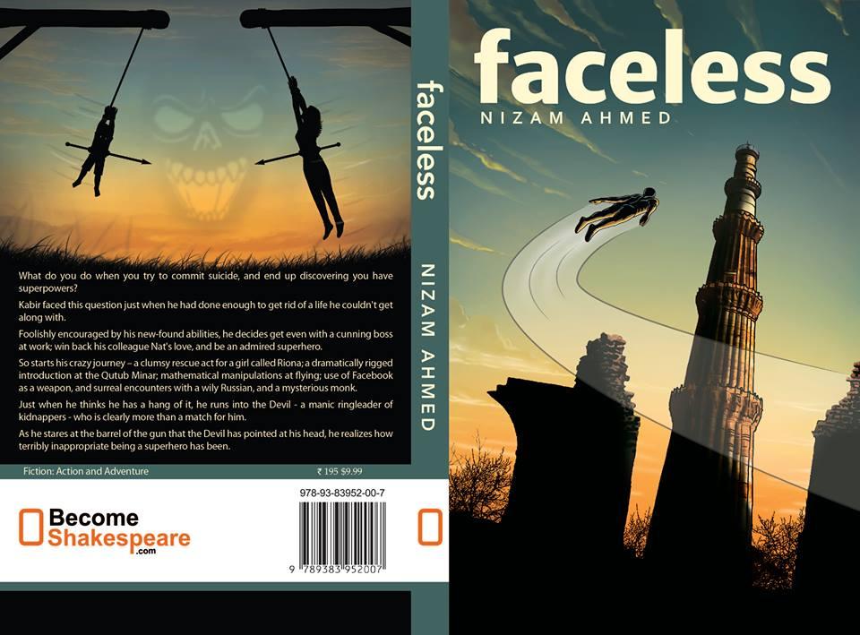 """Capa do livro """"Faceless"""" de"""