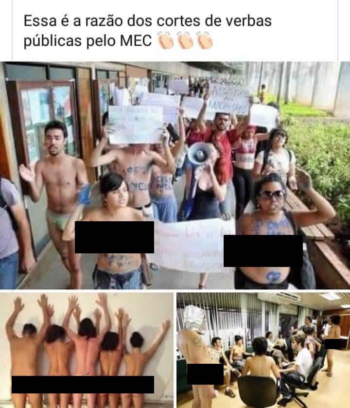 As fotos de alunos sem roupa em universidades públicas são reais?
