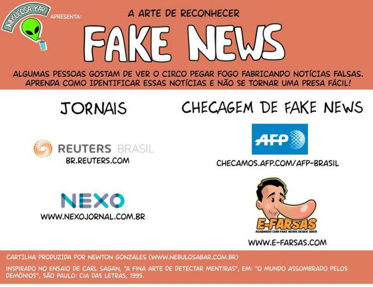 Cartilha feita em parceria com o E-farsas ensina como reconhecer uma notícia falsa!
