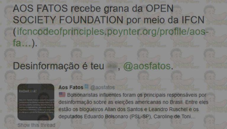 """Agência """"Aos Fatos"""" não recebe recursos da Open Society Foundation"""
