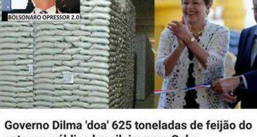 Dilma doou 625 toneladas do nosso feijão para Cuba, por isso o preço do produto aumentou aqui no Brasil! Será verdade?