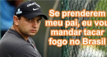 """""""Se colocarem meu pai na cadeia vou mandar tacar fogo no Brasil, vou fazer o diabo nesse país"""", teria dito o filho do ex-presidente Lula! Será verdade? (foto: Reprodução/Facebook)"""