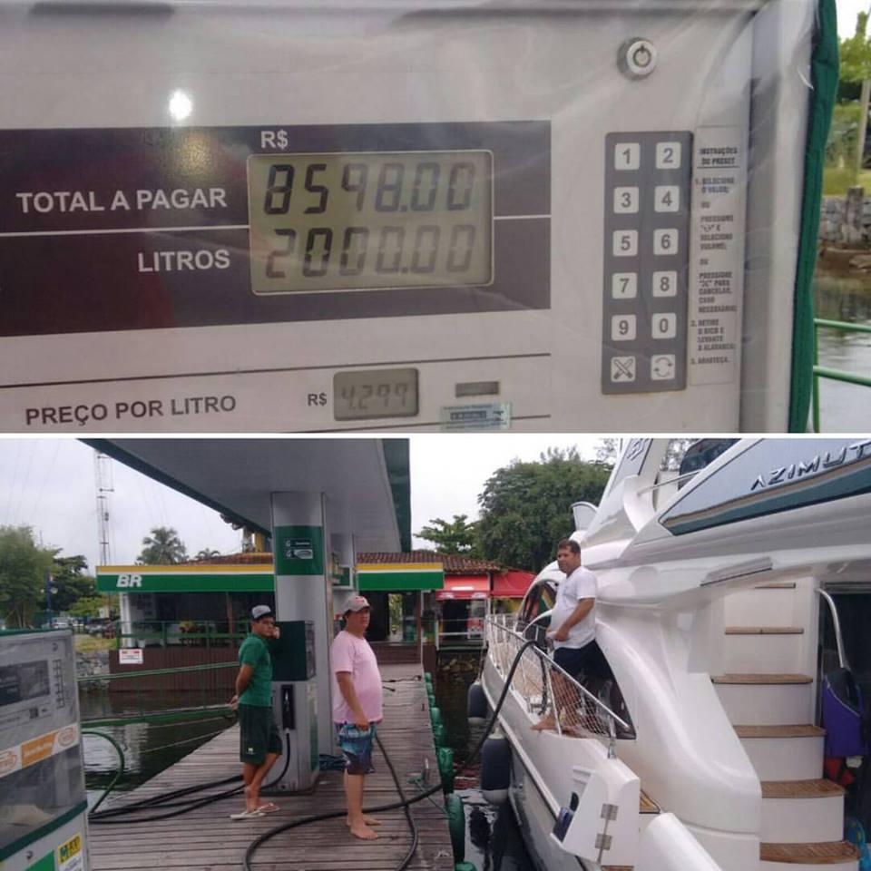 Filho do Lula é flagrado abastecendo seu iate com 2.000 litros de combustível! Será verdade? (foto: Reprodução/Facebook)