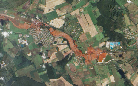 Vista aérea do estrago feito pela lama tóxica!