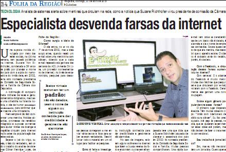 Criador do E-farsas é entrevistado pela Folha da Região