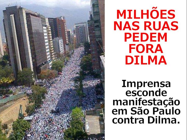 Fora Dilma! Milhões de manifestantes nas ruas e mídia esconde!