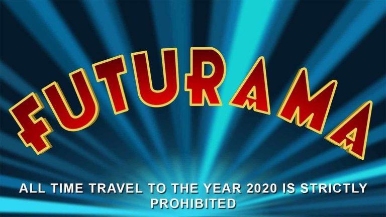 O desenho Futurama proibiu a viagem no tempo para 2020?