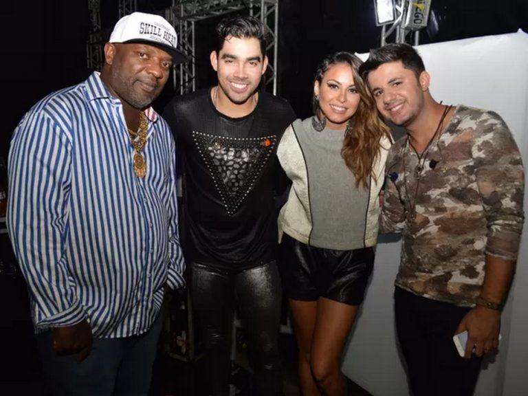 A foto em que Gabriel Diniz, Mr. Catra e Cristiano Araújo aparecem juntos é verdadeira ou falsa?