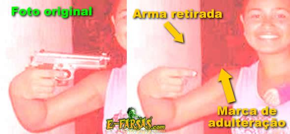 Garota com a arma na mão: Comparando as duas versões!