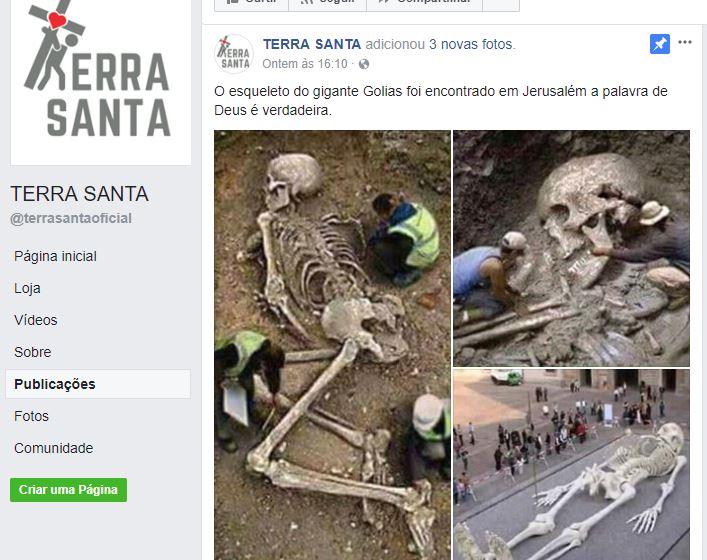 Foi encontrado em Jerusalém o esqueleto do gigante Golias?