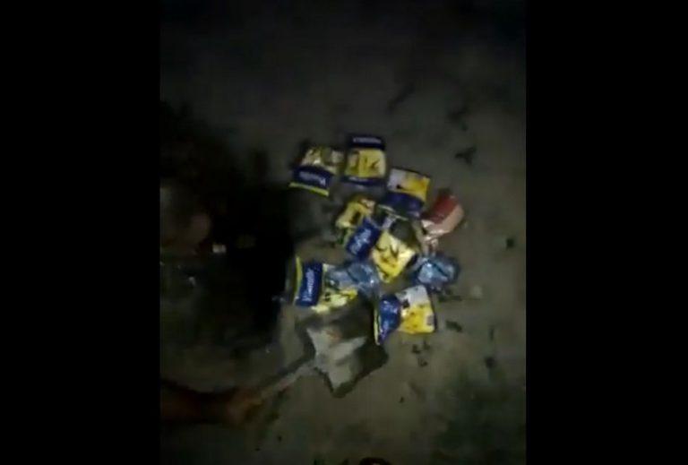 Governo petista do RN mandou enterrar cestas básicas enviadas por Jair Bolsonaro?