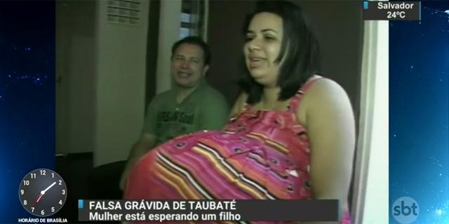 Grávida de Taubaté estaria grávida de verdade e teria virado pastora evangélica! Será? (foto: Reprodução/Facebook)