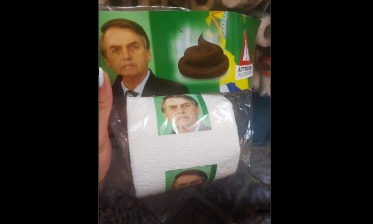"""O presidente Jair Bolsonaro foi """"homenageado"""" em papel higiênico na Alemanha?"""