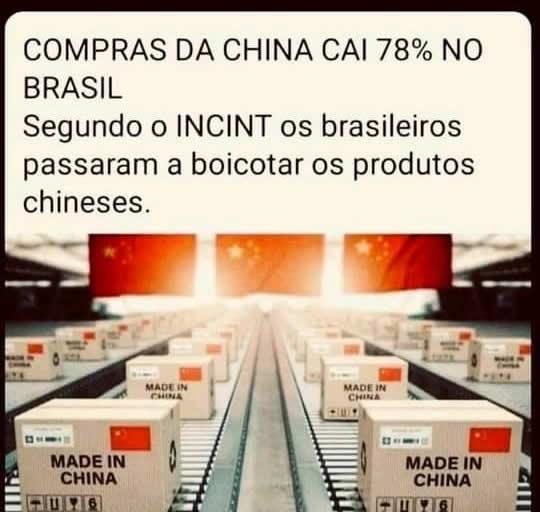 É verdade que boicote dos brasileiros fez as compras da China caírem 78%?