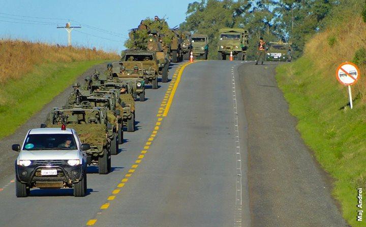 Tropas militares de todo o país estão marchando para Brasília! Será verdade? (foto: Reprodução/Facebook)