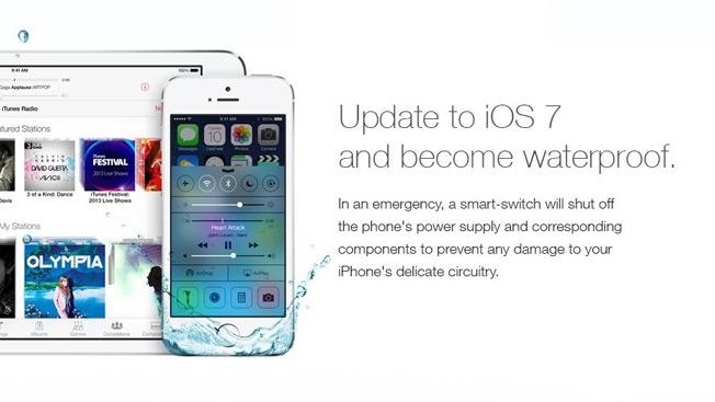 Novo iOS7 transforma o iPhone em um aparelho impermeável! Verdadeiro ou falso?