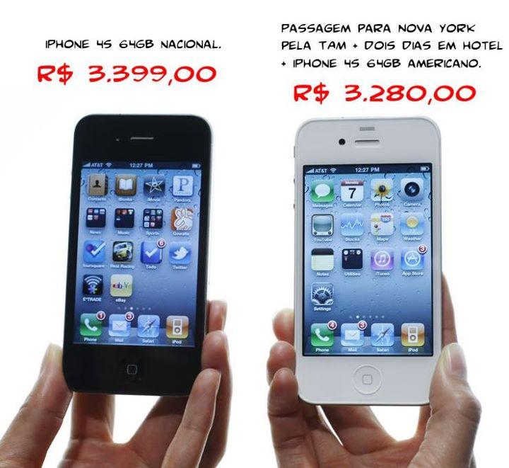 Corrente afirma que iPhone no Brasil é mais caro que viajar para os EUA!