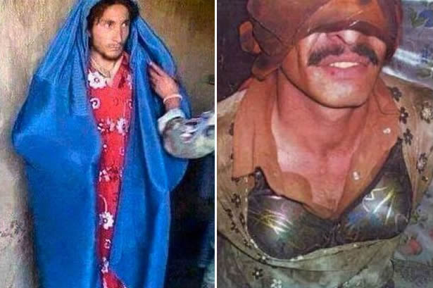 Jihadistas arrependidos teriam sido pegos durante tentativa de fuga vestidos de mulher! Será verdade? (foto: Reprodução/Facebook)