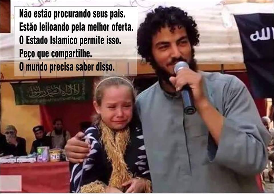Menina chora por estar sendo vendida em leilão! Será que isso é verdade? (foto: Reprodução/Facebook)