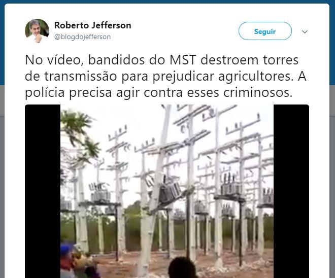 O MST está destruindo torres de energia de fazendeiros na Bahia?