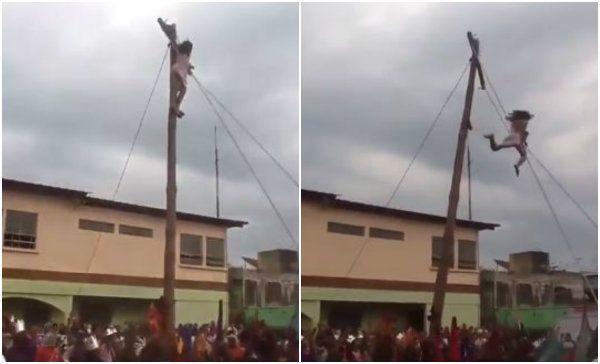 Jesus cai da cruz durante encenação da Paixão de Cristo!