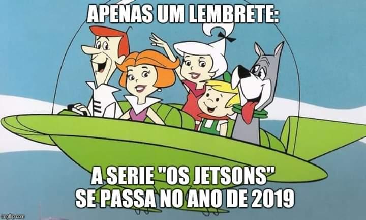 É verdade que o desenho animado The Jetsons se passa em 2019?