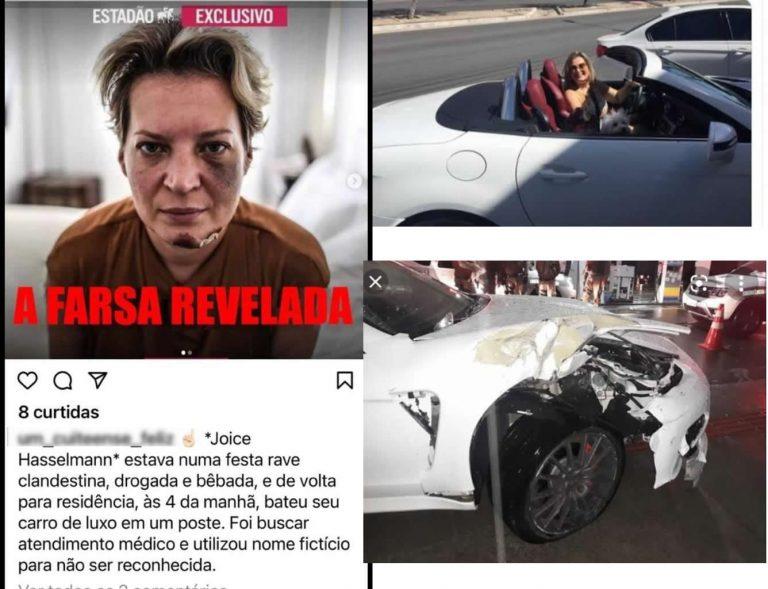 Joice Hasselmann se feriu em um acidente após dirigir bêbada depois de uma balada?