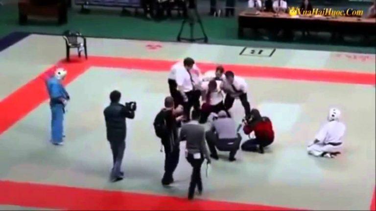 Juiz perde a paciência e bate nos competidores durante Olimpíadas! Será verdade?