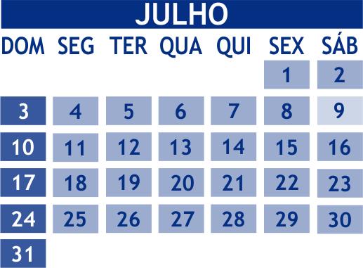 Minuto Efarsas: Julho só tem 5 semanas a cada 823 anos?