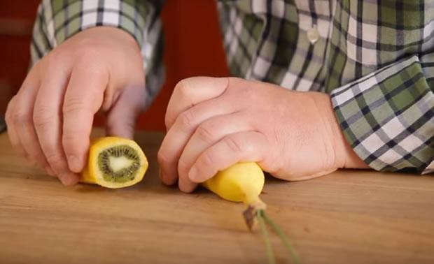 Como cultivar uma fruta híbrida de banana com kiwi?