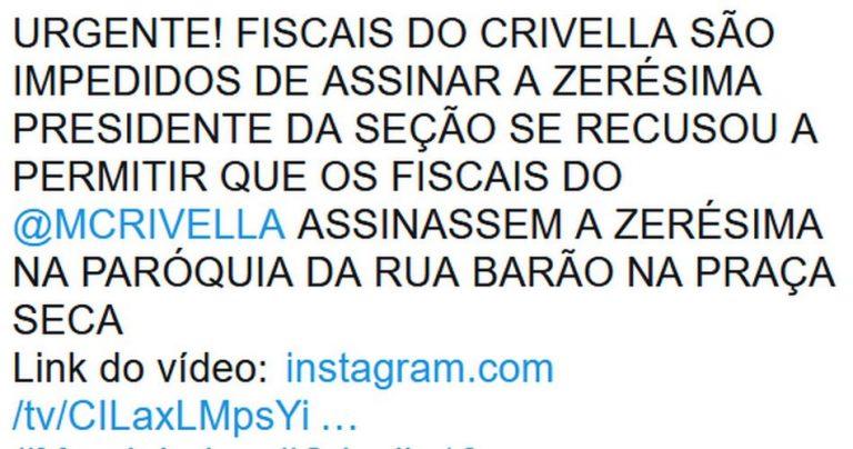 Fiscais foram impedidos de assinar a zerésima de urna no Rio de Janeiro?