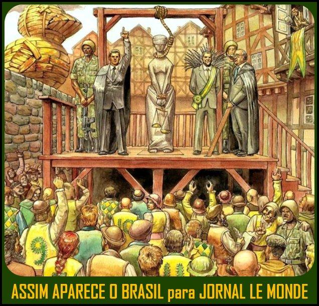 Capa do jornal francês Le Monde ironizou a Justiça brasileira?