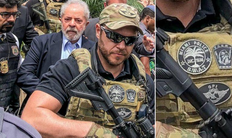 O ex-presidente Lula foi escoltado por um agente norte-americano da SWAT?