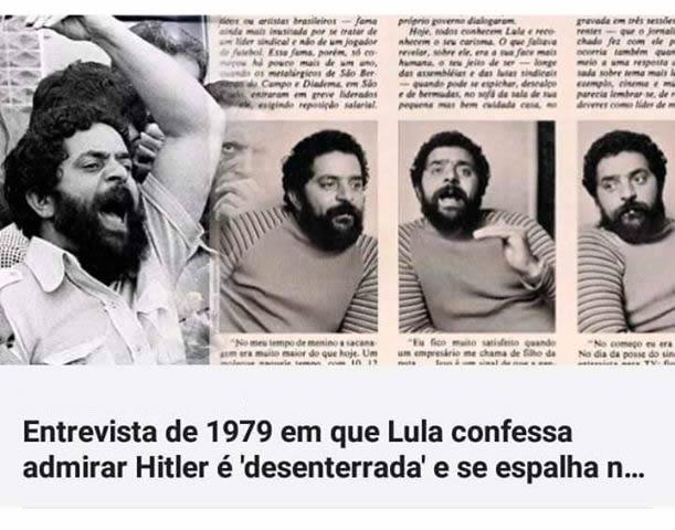 Lula disse em entrevista à Playboy, em 1979, que admirava Hitler?