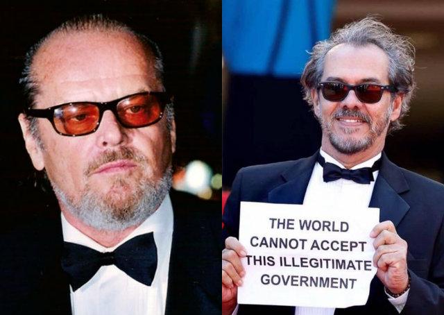 Ator Lula Terra se parece com Jack Nicholson? (foto: Reprodução/Facebook)