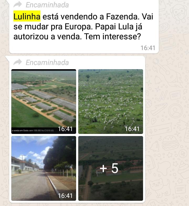 O Lulinha está vendendo uma fazenda de R$ 4 bilhões para fugir para a Europa?