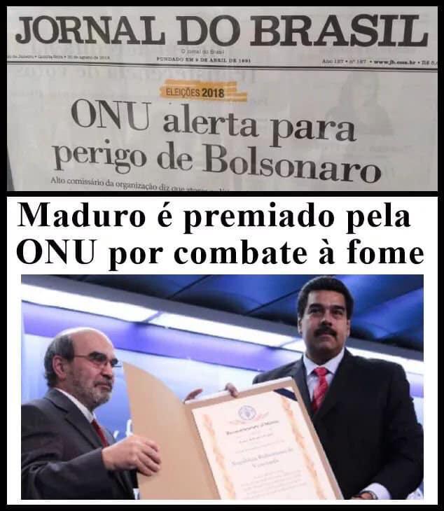 Nicolás Maduro ganhou da ONU um prêmio pela redução da fome na Venezuela?