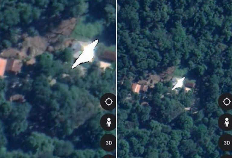 O Google Earth escondeu o local da queda do suposto OVNI de Magé/RJ?
