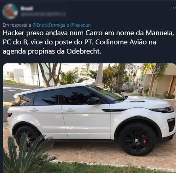 O hacker preso pela PF dirigia um Land Rover em nome da Manuela D'ávila?