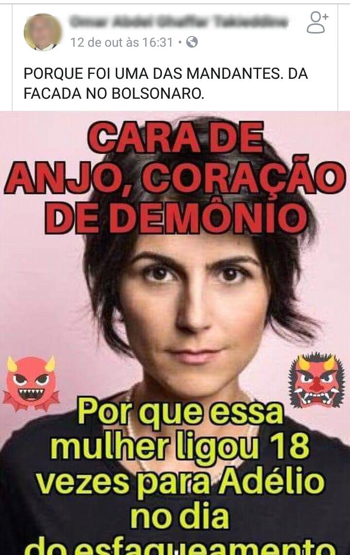 cdf71ff853d1d Manuela D Ávila ligou 18 vezes para Adélio no dia do atentado contra  Bolsonaro  (foto  Reprodução Facebook)