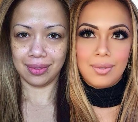 Um marido processou a esposa após vê-la sem maquiagem na Lua de Mel?