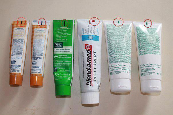 Alerta que circula pelas redes sociais alerta para as cores das marcas nas embalagens de cosméticos! (reprodução/Facebook)