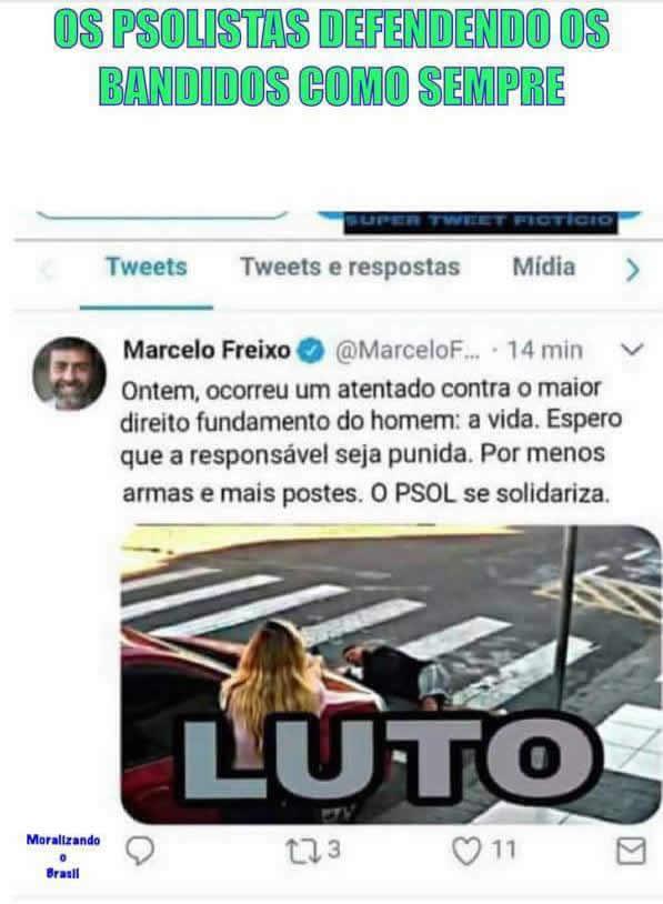 Marcelo Freixo do PSOL defendeu o bandido morto por policial à paisana?