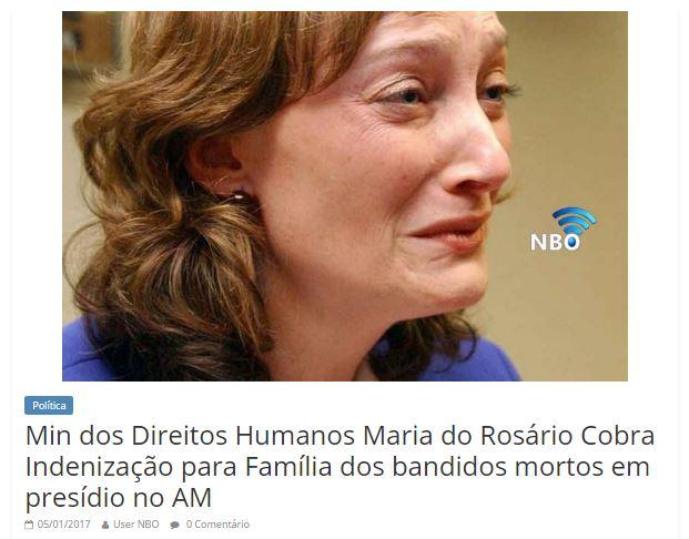 Ministra dos Direitos Humanos pede indenização para presos mortos em Manaus?