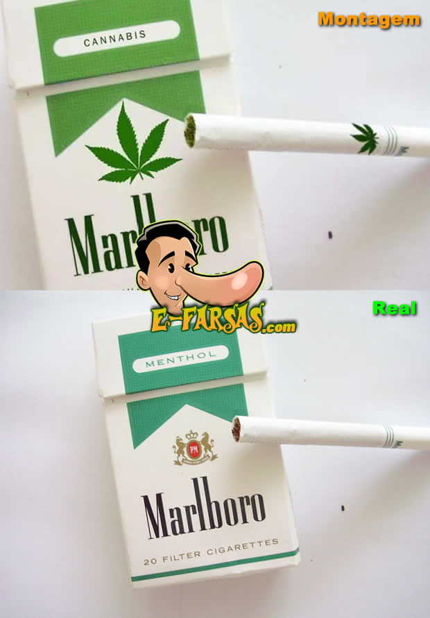 Montagem com a embalagem do cigarro Marlboro Mentolado!
