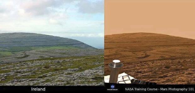 Fotos de Marte seriam, na verdade, da Irlanda! Será verdade? (fotos: Reprodução/Facebook)