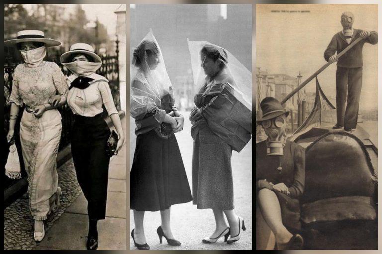 Fotos mostram as máscaras usadas durante a Gripe Espanhola de 1918?