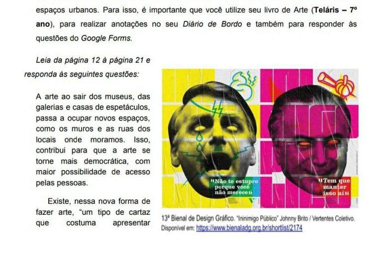 Material didático fez analogia ao presidente Jair Bolsonaro como estuprador e nazista?