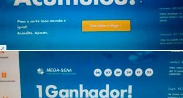 Internautas teriam flagrado fraude no site da  Mega Sena! Será verdade? (foto: Reprodução/Facebook)